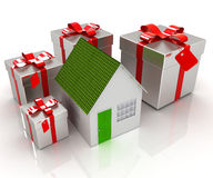 House and gifts Stock Image
