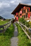 House in Gimmelwald. Walking through the small town of Gimmelwald, Switzerland Royalty Free Stock Photography