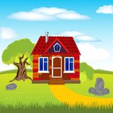 House on glade Royalty Free Stock Images