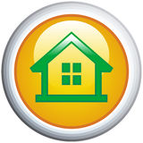 House Glossy Vector Icon Stock Photo