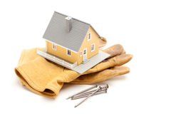 House, Gloves and Nails Stock Image