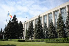 House of Government in Chisinau, Moldova Royalty Free Stock Photos