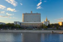The House of the Government of the Russian Federation, Moscow stock image