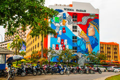 House with graffiti. Kota Kinabalu, Sabah, Malaysia. House with graffiti. Kota Kinabalu City is the capital of the state of Sabah, located in East Malaysia Royalty Free Stock Image