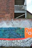 House with graffiti Stock Photos