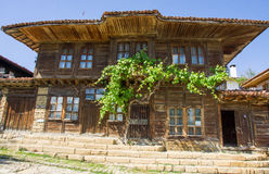 House and grapes in Balkan village Royalty Free Stock Images