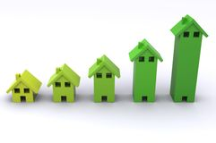 House Graph Stock Photography