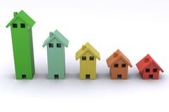House Graph Stock Photo