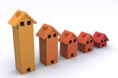 House Graph Royalty Free Stock Image