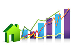 House graph illustration Stock Images