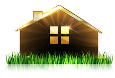 House and grass at the front Royalty Free Stock Photography