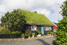 House with grass roof Royalty Free Stock Photo
