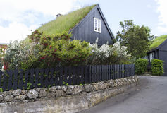 House with grass roof Stock Photo