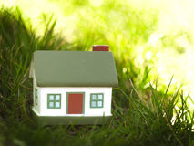 House in the grass Royalty Free Stock Images