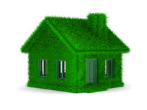 House from grass on  white background Stock Photo