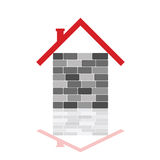House with gray brick illustration Royalty Free Stock Photos