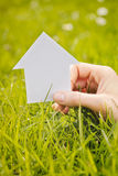 House on Green Field Stock Photography