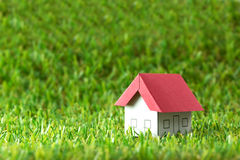 House on green field Stock Image