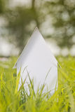 House on a Green Field in Spring Royalty Free Stock Photography