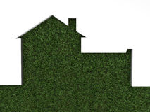 House on green grass Stock Photos