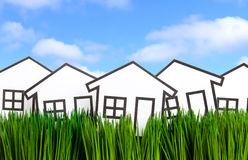 House and green grass Royalty Free Stock Photography