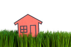 House and green grass Royalty Free Stock Photo