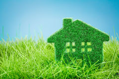 House on the green grass Royalty Free Stock Photography