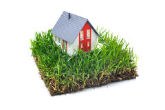 House in green grass Royalty Free Stock Photography