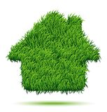 House Green Grass. Vector Illustration for your design Stock Illustration