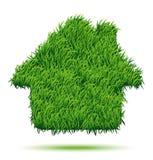 House Green Grass. Vector Illustration for your design stock illustration