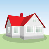 House on a green hill. Royalty Free Stock Photo