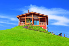 House on green hill Royalty Free Stock Photo