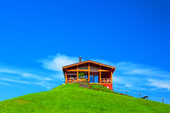 House on green hill Stock Image