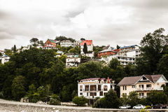 House on the green hills of Sochi in the rain. House on the green hills in Sochi Stock Image