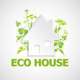 House and green plants. Stock Image