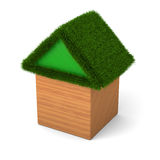 House with green roof Royalty Free Stock Images