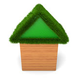 House with green roof Royalty Free Stock Photography