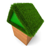 House with green roof Stock Photos