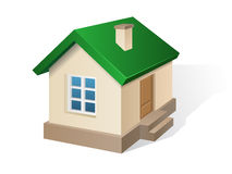 House with green roof Stock Image