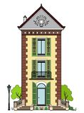 House with green shutters. Vector illustration of a house, file EPS 8 Vector Illustration