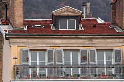 House in Grenoble. Balcony house in grenoble, france stock photography