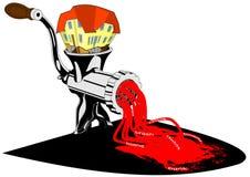House grinder crisis. Illustration vector vector illustration