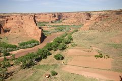 House in the Ground of the Canyon De Chelly Royalty Free Stock Image