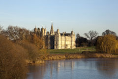 House and Grounds. Burghely House and grounds in Stamford, Lincolnshire, England, UK Royalty Free Stock Photo