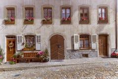 House in Gruyere village, Switzerland Royalty Free Stock Photos