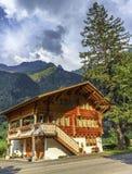 House in Guttannen village, Bern canton Stock Photography