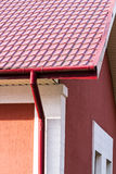 House with gutter system Royalty Free Stock Photography