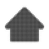 House Halftone Dotted Icon stock illustration