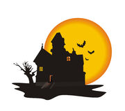 House on a Halloween Stock Images