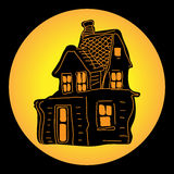 House for Halloween Royalty Free Stock Images